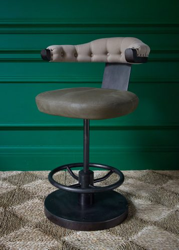 2021 Commander Bar Stool – Olive Leather-0001