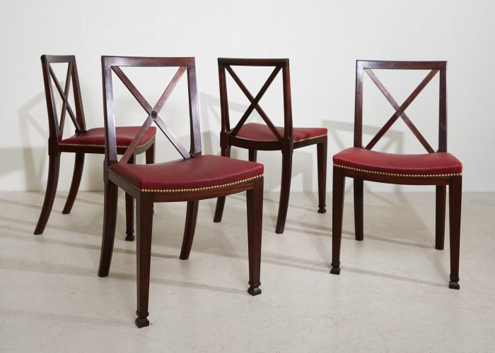 2021 Orangerie Chairs – Red Leather-0001
