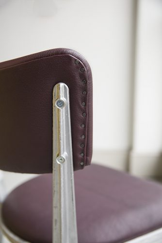 BA3-Cherry-Leather-back-detail