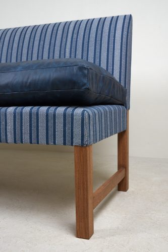Banquette – Blue Leather and Stripes-0008