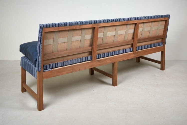 Banquette – Blue Leather and Stripes-0013