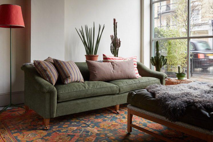 Bassett Sofa – Moss green