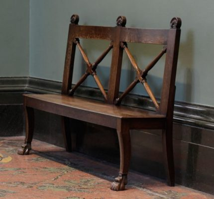 Pawfoot, Clawfoot Bench With Cross Back Spokes. Made By Hand.