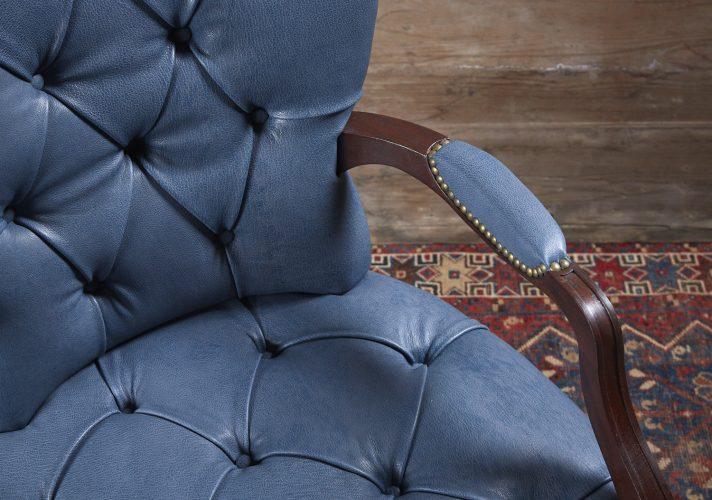 Blue-Leather-Salon-Armchair-0005