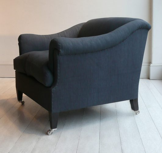 Blue-Linen-Den-Armchair-Side