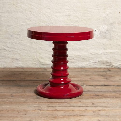 Bombay-Button-Table-House-Red
