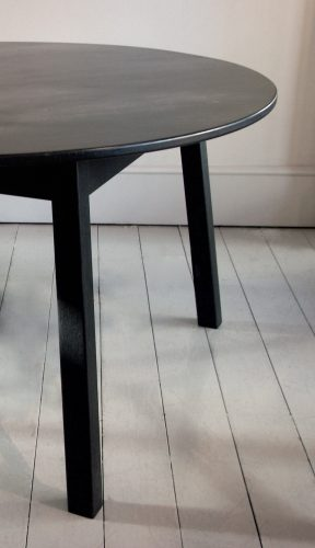 Howe Oval Ebonised Breakfast table