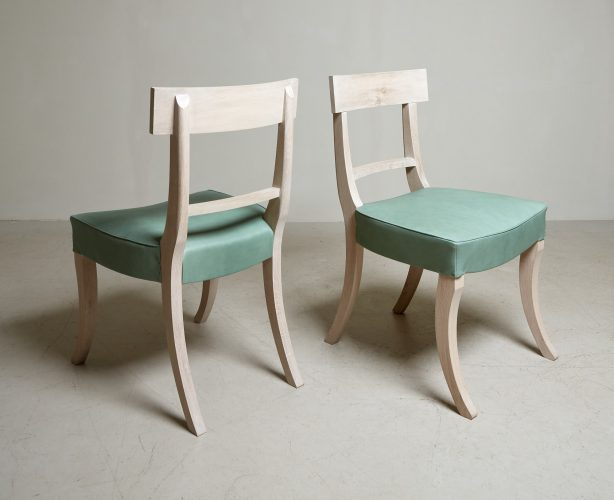 Grecian Chair Lime Wash Green Leather-0006
