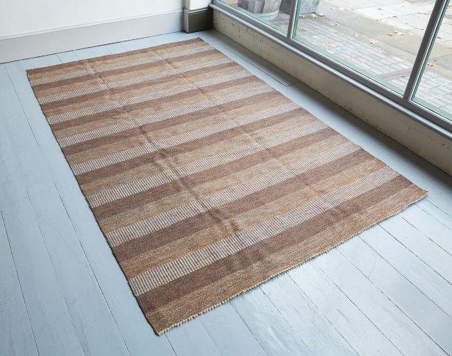 HL1389 – Brown Striped Swedish Kilim-0002