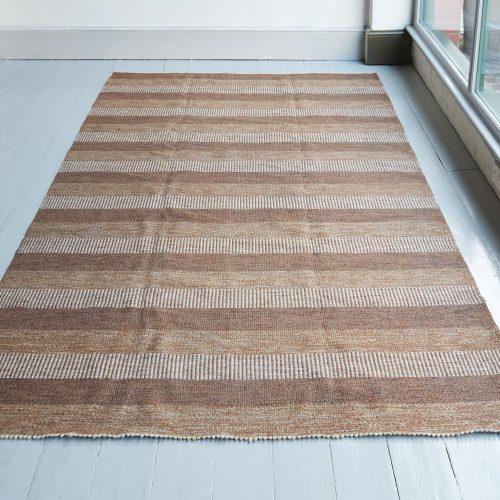 HL1389 – Brown Striped Swedish Kilim-0003