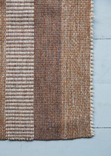 HL1389 – Brown Striped Swedish Kilim-0004