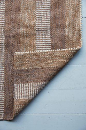 HL1389 – Brown Striped Swedish Kilim-0005
