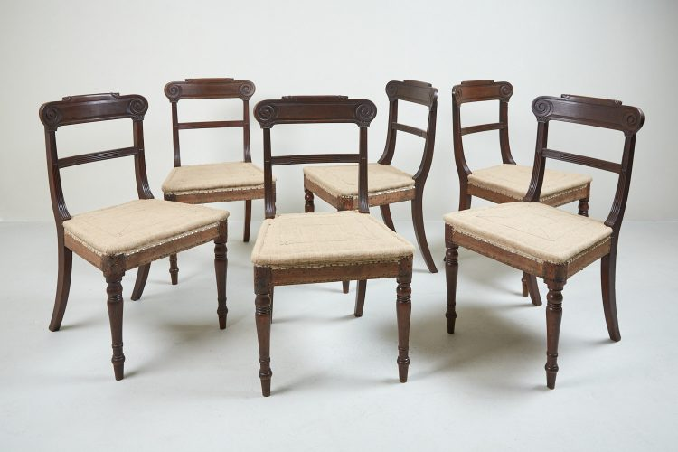HL1525 – Six Regency Mahogany Dining Chairs-0001