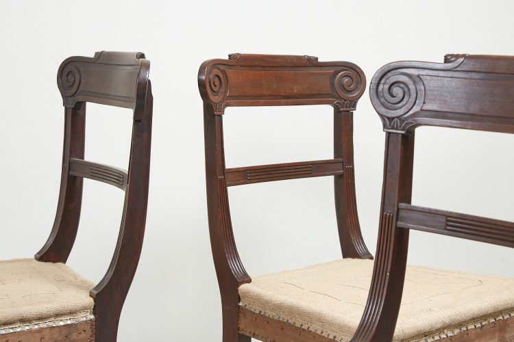 HL1525 – Six Regency Mahogany Dining Chairs-0008