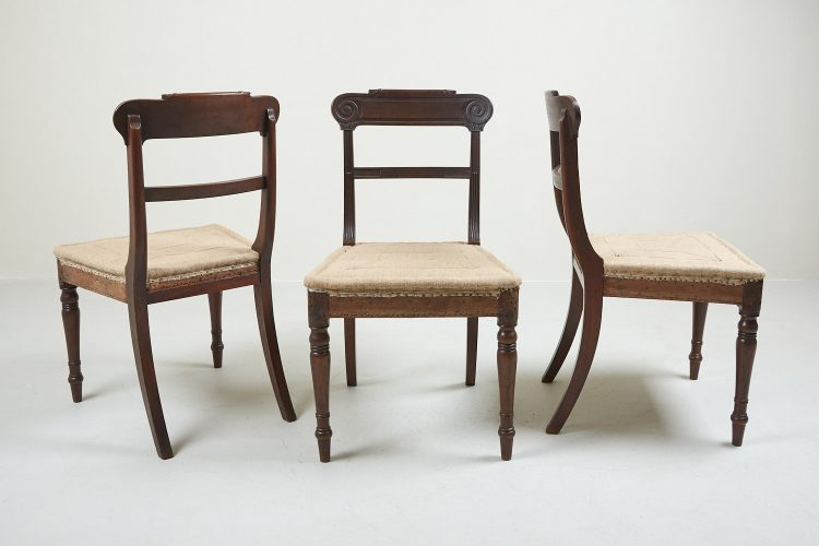 HL1525 – Six Regency Mahogany Dining Chairs-0011