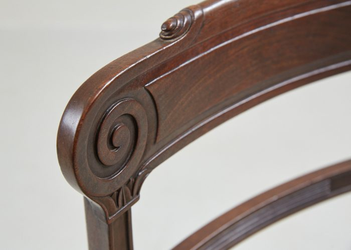HL1525 – Six Regency Mahogany Dining Chairs-0025