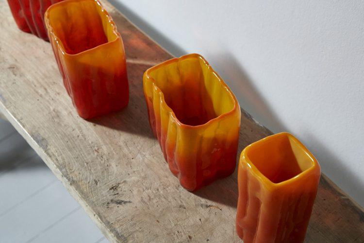 HL4100-Swedish-Orange-Glass-Vases-0004