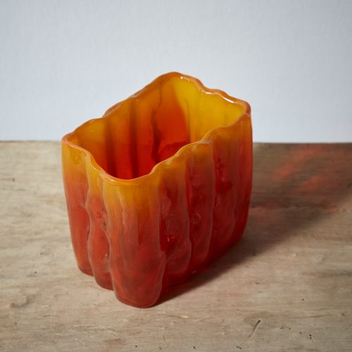 HL4100-Swedish-Orange-Glass-Vases-0008