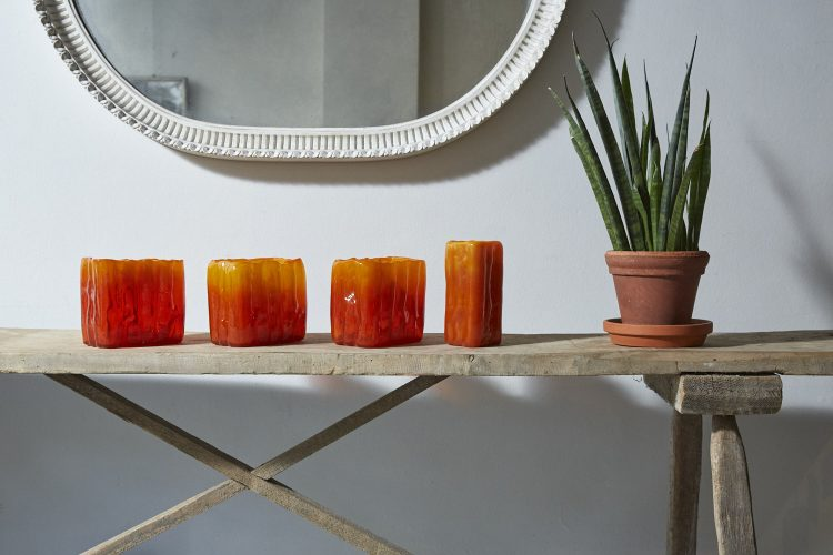 HL4100-Swedish-Orange-Glass-Vases-0011
