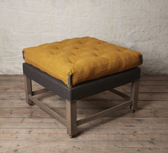 HOWE Gainsborough Footstool-mustard