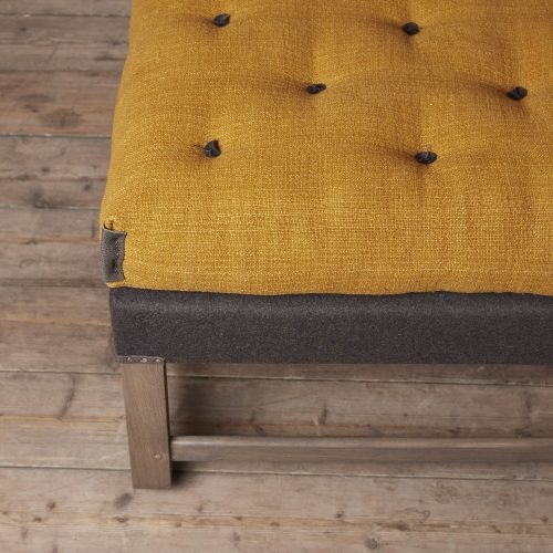 HOWE Gainsborough Footstool-mustard detail