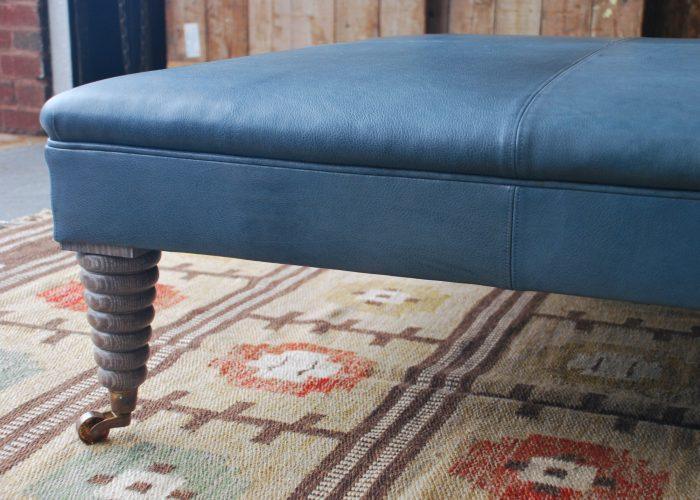 Michelin Stool – Blue Leather-0011
