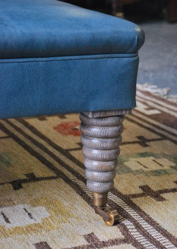 Michelin Stool – Blue Leather-0012
