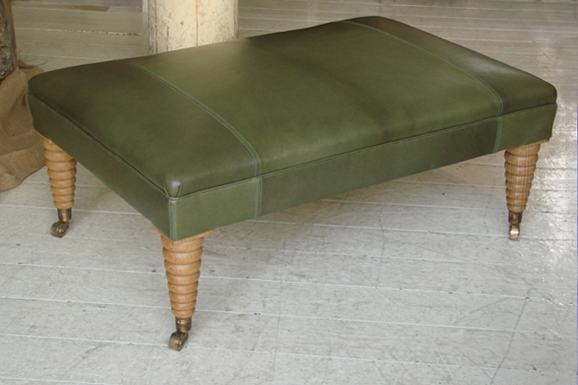 Michelin-Stool-Green-Leather