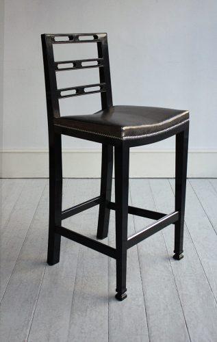 Pierced-Ladderback-black