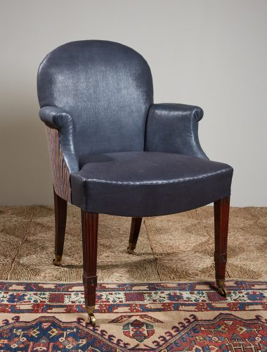 Recovered-Blue-Leather-side-Chair-1