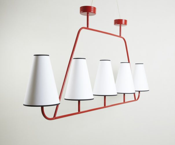 Red Tube Chandelier-0006