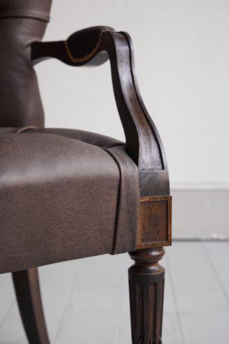Salon Carver-Brown Leather-0017