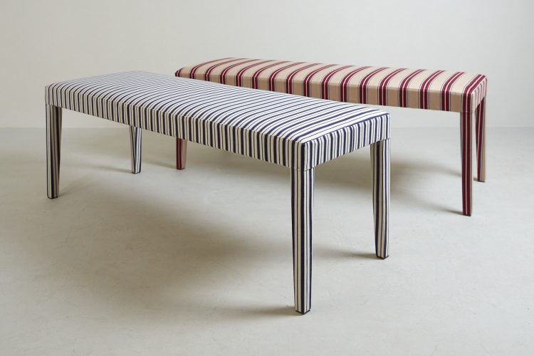 Silhouette Stripey Benches x 2-0002