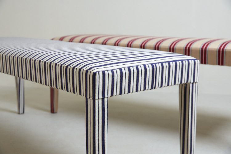 Silhouette Stripey Benches x 2-0006