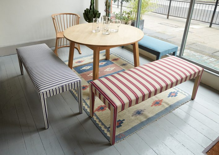 Silhouette Stripey Benches x 2-0021
