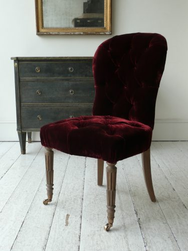 salon-chair-silk-velvet