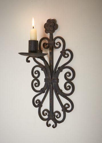 HL4326 – Wrought Iron Wall Candlesticks-0005