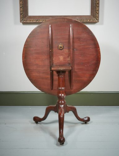 HL4374 – A George III Mahogany Tripod Table-0001