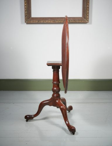 HL4374 – A George III Mahogany Tripod Table-0002