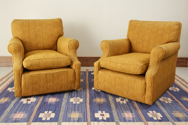 INC0745 – Pair of Mustard Armchairs-0009