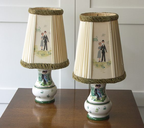 Pair of cute 50s table lamps