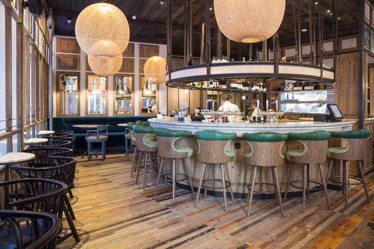 Captain Bar Stools in Rail House Cafe