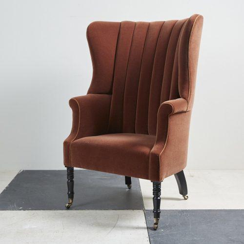 George III Barrel Back Chair – Velvet-0004