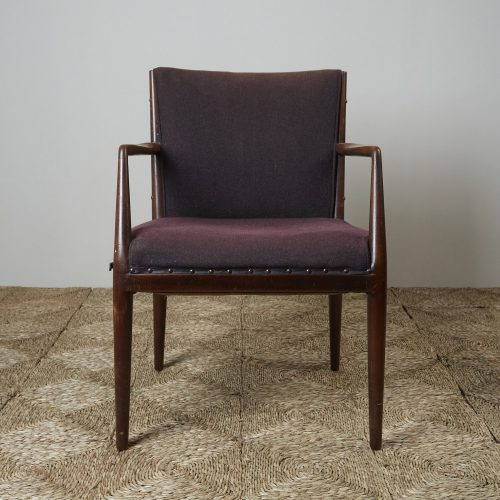 HL3907 – Danish Easy Chair brown fabric-0002