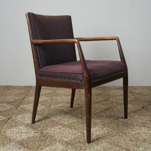 HL3907 – Danish Easy Chair brown fabric-0003
