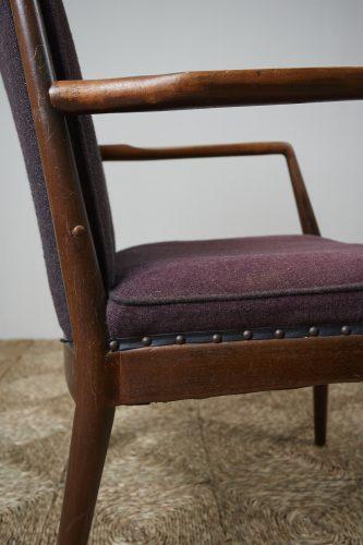 HL3907 – Danish Easy Chair brown fabric-0007