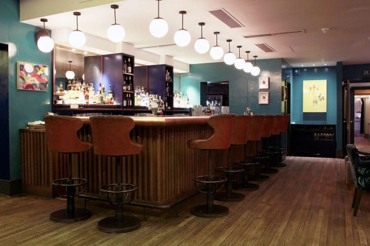 Captain Bar Stools in Groucho interior
