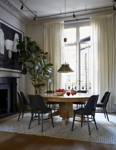 Camembert Chairs in Nicola Harding 19th century London house interior
