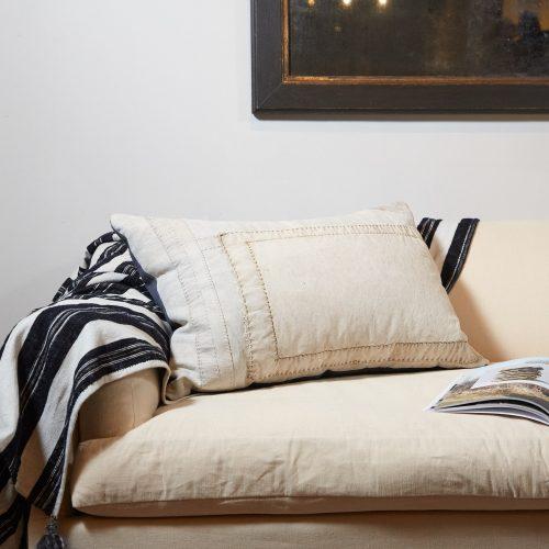 HB900257 – Antique Panelled Sailcloth Cushion-0002