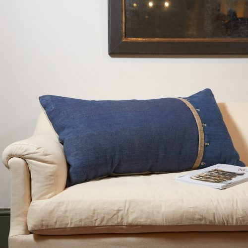 HB900258 – Antique French Linen Grain Sack Cushion-0002